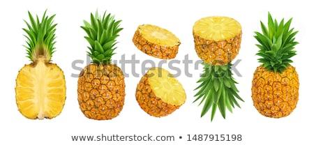 Fresco ananás isolado branco estúdio Foto stock © boroda