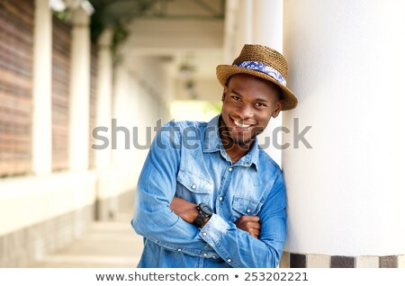younf african man posing outside stock photo © photography33