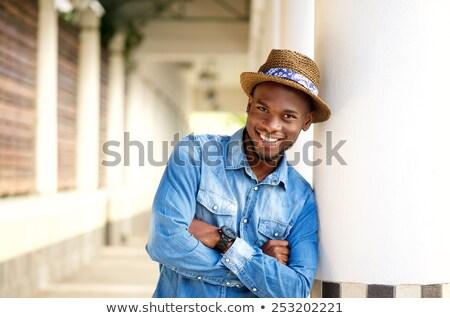 Сток-фото: Younf African Man Posing Outside