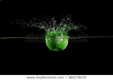 verde · maçã · preto · natureza · fruto - foto stock © artjazz