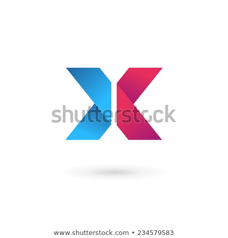 Glossy Icons for letter X stock photo © cidepix