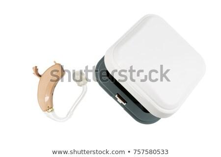 hallókészülék · fiatal · nő · haj · egészség · szépség · gyógyszer - stock fotó © csontstock