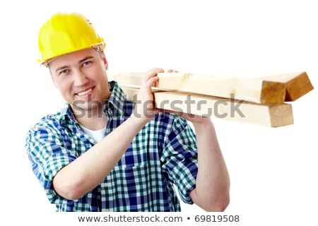 portrait of handsome carpenter carrying lumber Stock photo © photography33