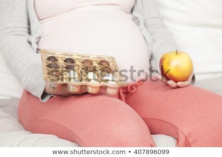 Сток-фото: Woman Eating Chcolate