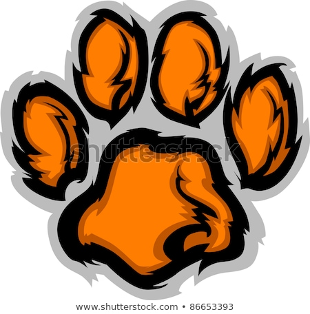 Сток-фото: Tiger Paw Mascot Vector Illustration