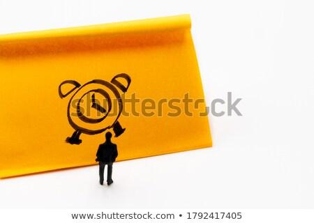 óra tapadó jegyzet közelkép Stock fotó © devon