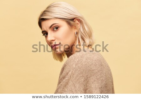 woman with blond bob stock photo © lubavnel
