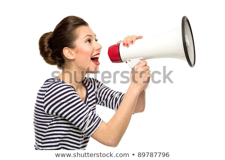 Studio shot of a woman shouting Stock photo © photography33