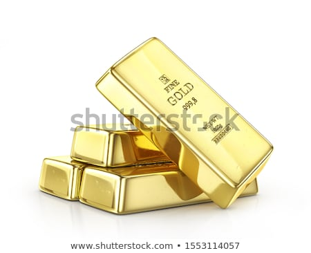 Gold bars on white background Stock photo © fixer00