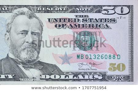 Fünfzig Dollar isoliert weiß Papier Stock foto © Pakhnyushchyy