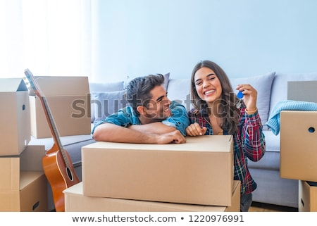 young people celebrating their new apartment Stock photo © photography33