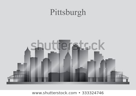 Pittsburgh, Pennsylvania skyline. Detailed vector silhouette Stock photo © Yurkaimmortal