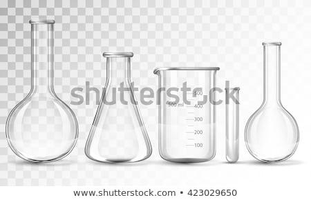 kémcső · izolált · citromsárga · folyadék · orvosi · labor - stock fotó © antonprado