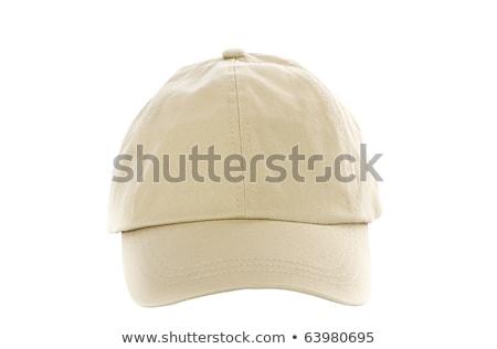 Tan Baseball Cap isolated on white Stock photo © shutswis