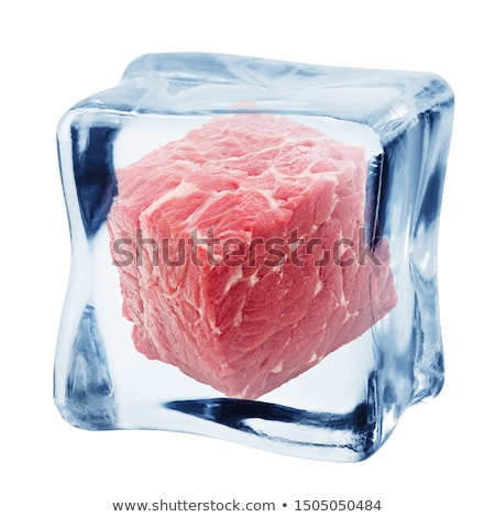 Ice cube and beef stock photo © Givaga