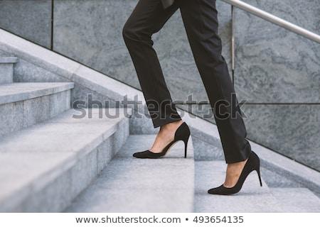 Iş kadını bacak görüntü ayakta beyaz kadın Stok fotoğraf © pongam