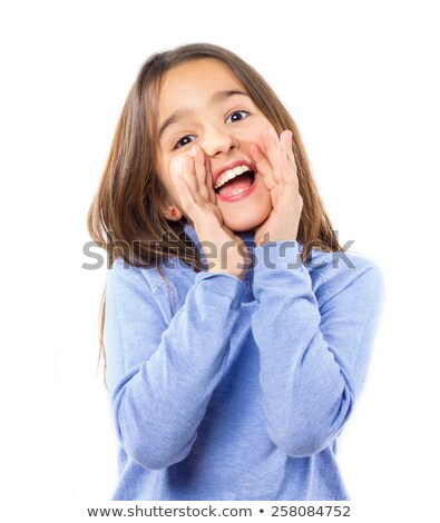 Young female shouting against a white background Stock photo © wavebreak_media