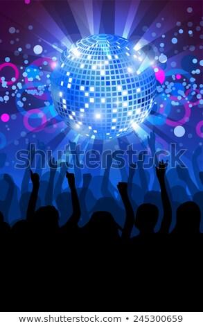 синий Disco Ball прибыль на акцию 10 вектора файла Сток-фото © beholdereye