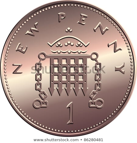 british one penny coin reverse stock photo © grazvydas