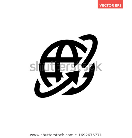World meridians parallel web interface icon Stock photo © make