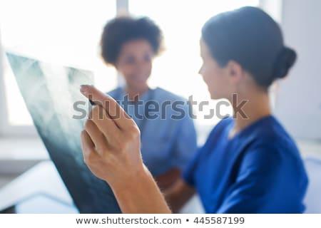 Fekete röntgenkép nővér csinos kész törődés Stock fotó © jarp17