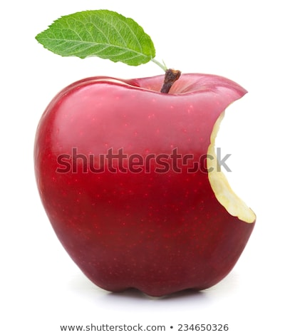 красное яблоко укусить отсутствующий белый борьбе Сток-фото © dbvirago