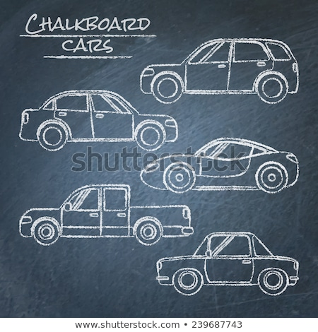 Drawing cars by a chalk stock photo © romvo