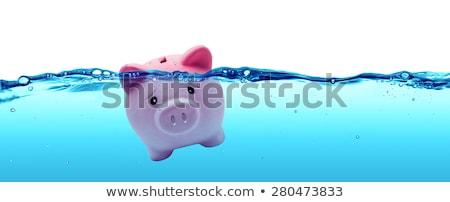 Drowning Piggy Bank Stock photo © cteconsulting
