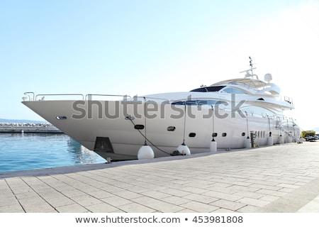Jacht dokk kép kettő hajók víz Stock fotó © cteconsulting
