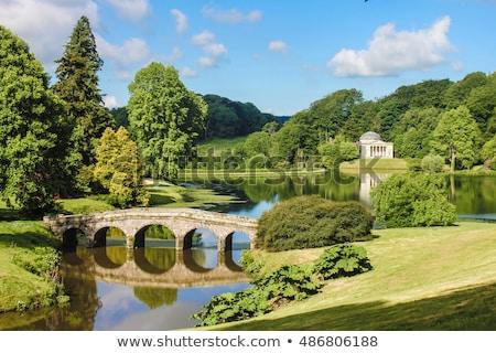 formal · jardins · belo · geométrico · projeto · jardim - foto stock © flotsom