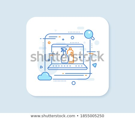Square web buttons - Spray Stock photo © cteconsulting