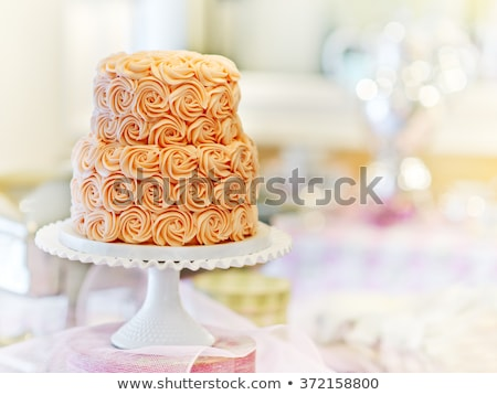 Ciasta rocznicy urodziny uroczystości ukończeniu strony Zdjęcia stock © kittasgraphics