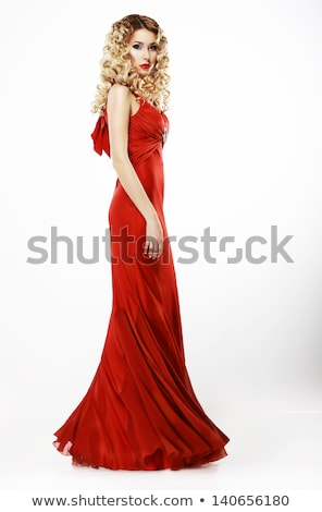 formal party sophisticated woman in evening silk dress luxury stock photo © gromovataya