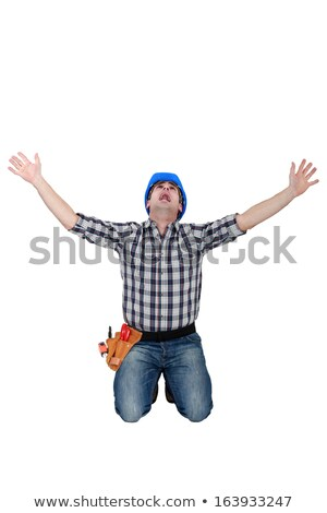 Tradesman crying out in fear Stock photo © photography33