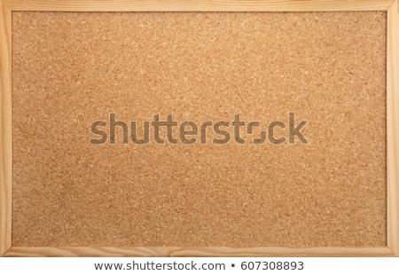 Quadro de avisos papel isolado cortiça negócio escritório Foto stock © Marfot