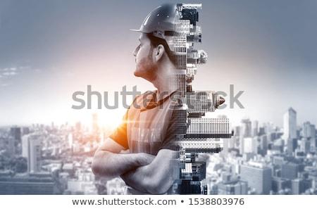 épület mérnöki építészet terv 3D modell Stock fotó © ixstudio