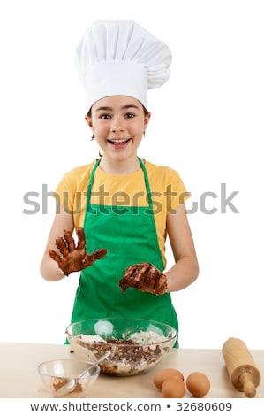 Giovani bambino isolato bianco cottura cookies Foto d'archivio © gewoldi