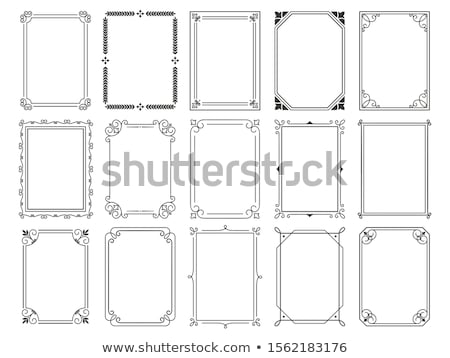 Fekete keret öreg antik izolált dekoratív Stock fotó © scenery1