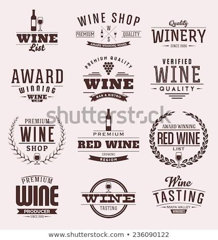 Icône qualité vin circulaire symbole verre Photo stock © Porteador