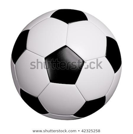 サッカーボール パス 白 緑 地上 運動 ストックフォト © ssuaphoto