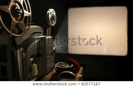 супер Film Reel Vintage изолированный белый фильма Сток-фото © THP