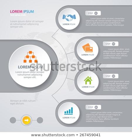 Vector resumen ilustración infografía plantilla Foto stock © orson