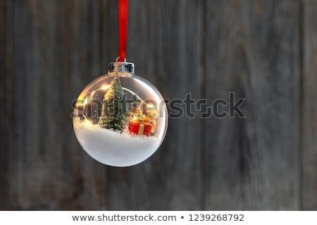 mavi · crystal · ball · görüntü · yarım · yansıma - stok fotoğraf © ssuaphoto