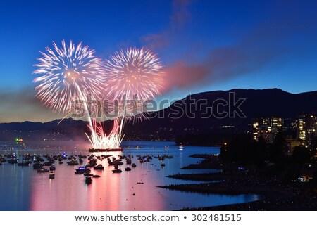 İngilizce Vancouver gece İngilizler dağ su Stok fotoğraf © billperry