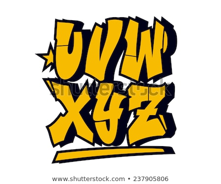 vector graffiti font alphabet part 3 stock photo © odes