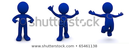 3d character textured with flag of european union stock photo © kirill_m