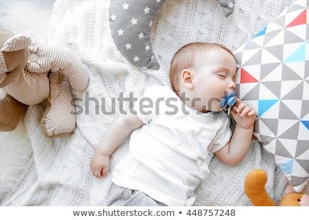 おしゃぶり · 赤ちゃん · 男 · 口 · 見える · カメラ - ストックフォト © magraphics