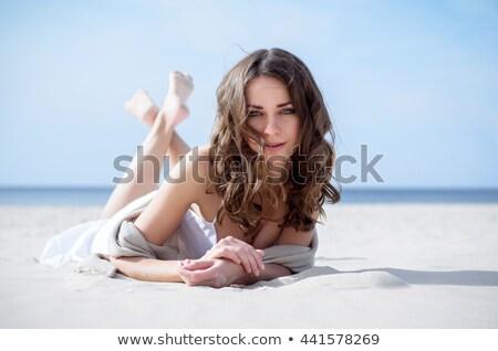 若い女性 髪 肖像 笑顔 顔 ファッション ストックフォト © dukibu