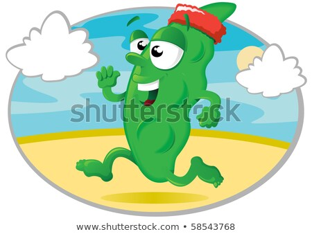 cartoon runner bean Stock photo © jorgenmac