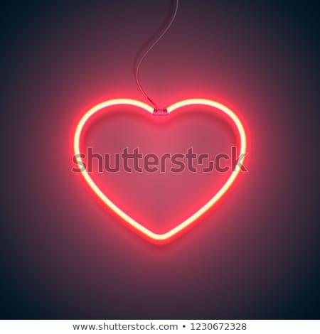 Hart liefde gloeilamp vector geïsoleerd object Stockfoto © Hermione